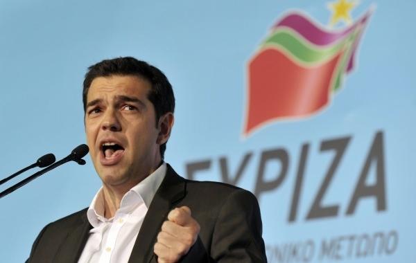 Alexis Tsipras discursando. Foto: CSBBrasil